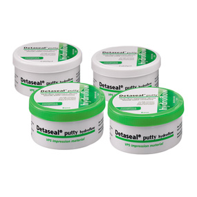 Detaseal hydroflow putty слепочная масса, Value Kit, набор 4х250 мл DETAX  от MirDental